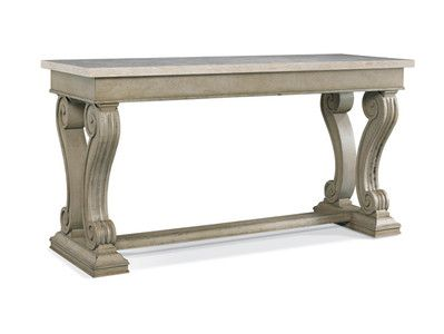 Hickory White Sideboard Maison In. Honed Travertine Marble Top (see Detail)  Shown In Dove Finish