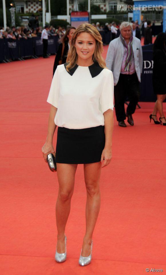 Virginie Efira look black & white au Festival de Deauville le 9 septembre 2011. Une réussite !