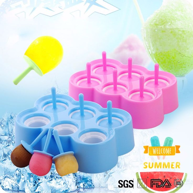 WALFOS Lolly Mould Tray Pan Kitchen Randomly color 6 Cell Frozen Ice Cube Molds Popsicle mold  DIY Ice Cream Tools Cooking tools #Affiliate