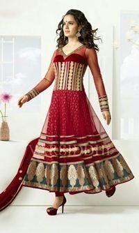 Jay Sarees Designer Semi Stitched Annarkali