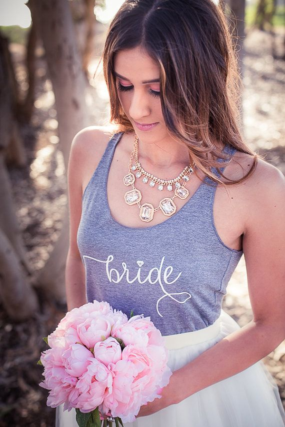 Bruid Tank Wifey Tank bruiloft Tank Top door IselleDesignStudio