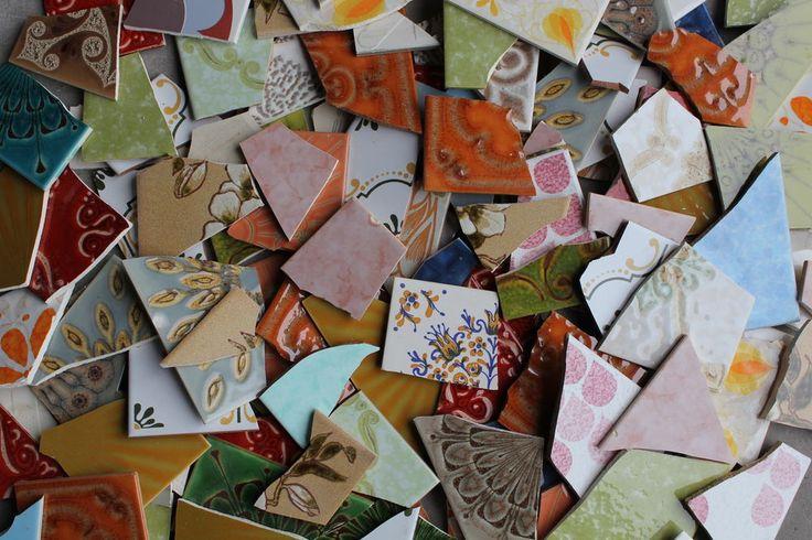 für Trittsteine? Retrofliesen Fliesenbruch Mosaik 3 Kilo - verschiedene Farben basteln Künstler in Bastel- & Künstlerbedarf, Kreatives Gestalten, Mosaik-Technik | eBay!