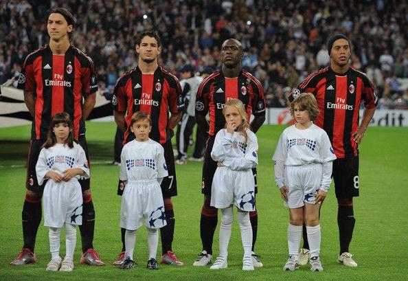 Ibrahimovic, pato, seedorf and ronaldinho