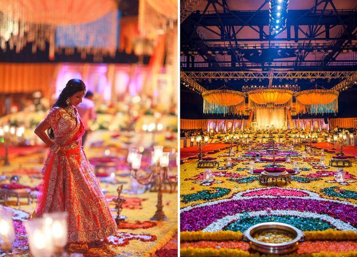 A Sanjay Leela Bhansali movie set Decor for the Wedding of Shivani and Dhrumil of WeddingSutra. #WeddingSutraP2W