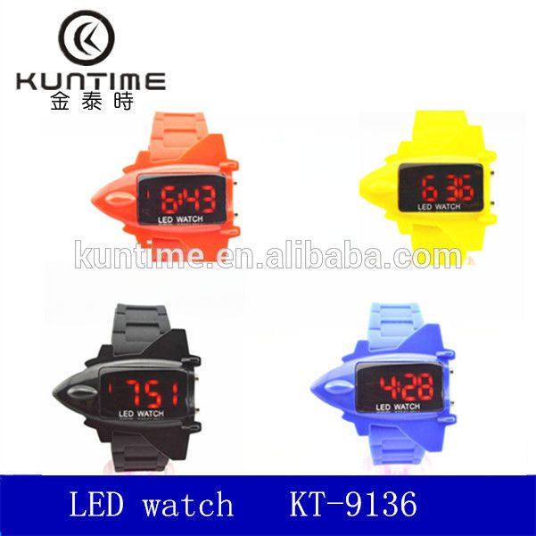 Promotional led air plane design watch cheap watches in bulk