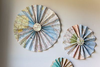 Mad for Mid-Century: Vintage Maps Turned into Art for Travel Nursery