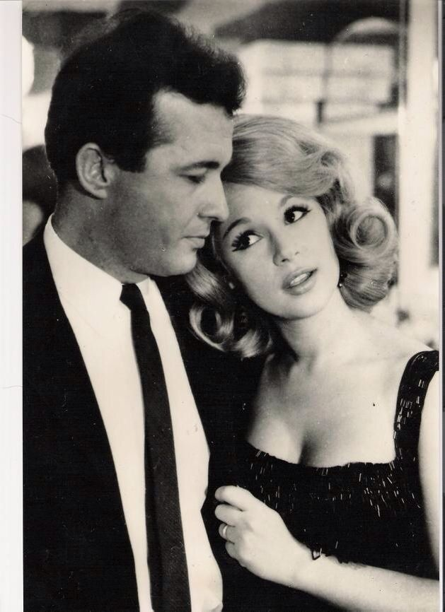 Aliki Vougiouklaki, Greek actress & icon. Here with Dimitris Papamichael, Greek actor and her husband. Αλίκη Βουγιουκλάκη