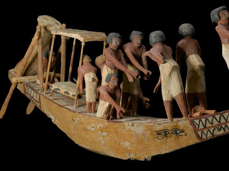 Wooden model of a funerary boat. Detail. Middle Kingdom. Late 11th dynasty- early 12th dynasty. 2010–1961 B.C. | The Museum of Fine Arts, Boston