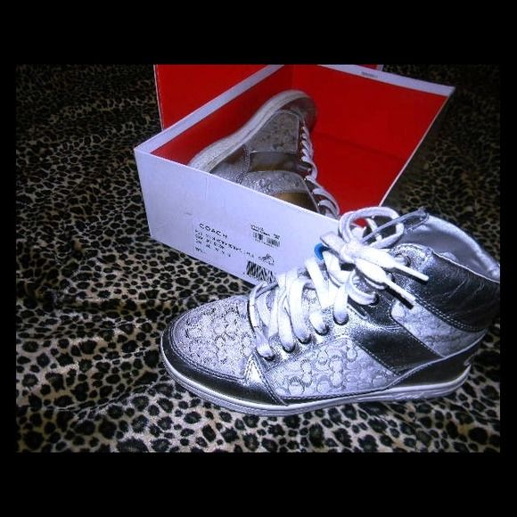 Holiday SALECOACH sneaker All silver authentic COACH sneakers! Coach Shoes
