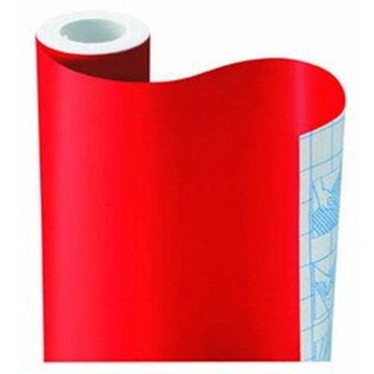 Red Wallpaper Rolls Self Adhesive Vinyl Wallpaper