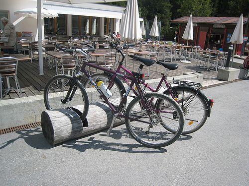 Tree Log Bike Rack