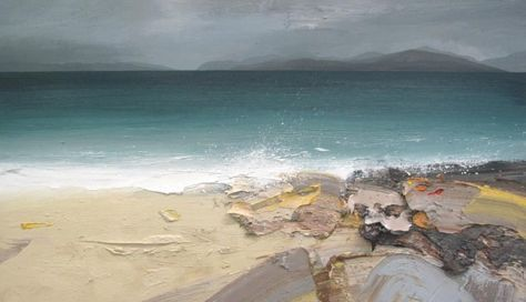 Chris Bushe RSW - Sea Spray, Sand and Rocks, the Sound of Taransay
