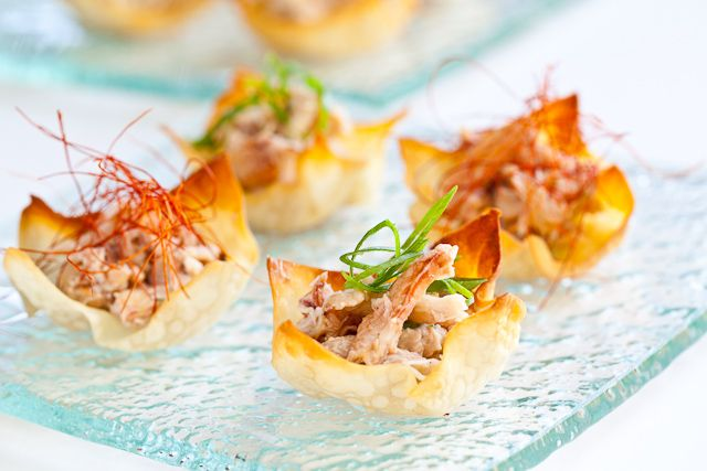 Baked crab rangoon - SO much better for you than the fried versions. I won't feel so guilty about indulging in these from now on.