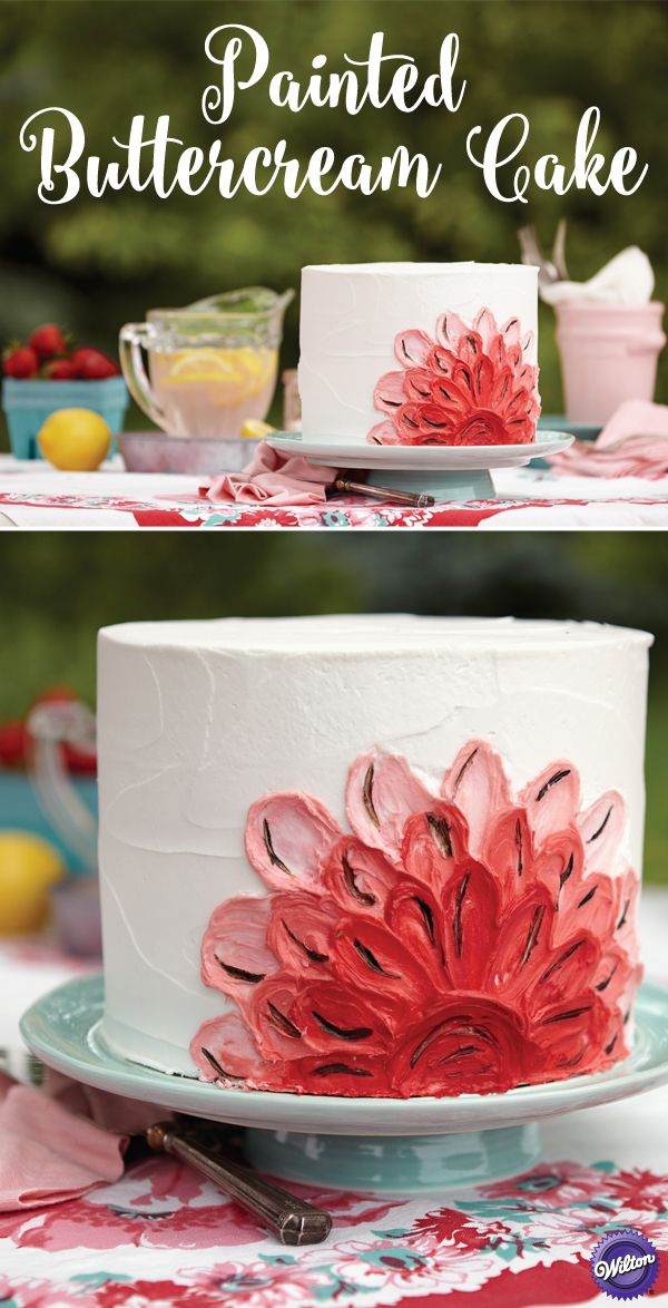 You are an icing artist! Prove it with this impressionistic flower cake, painted with icing and the Color Right Performance Color System.
