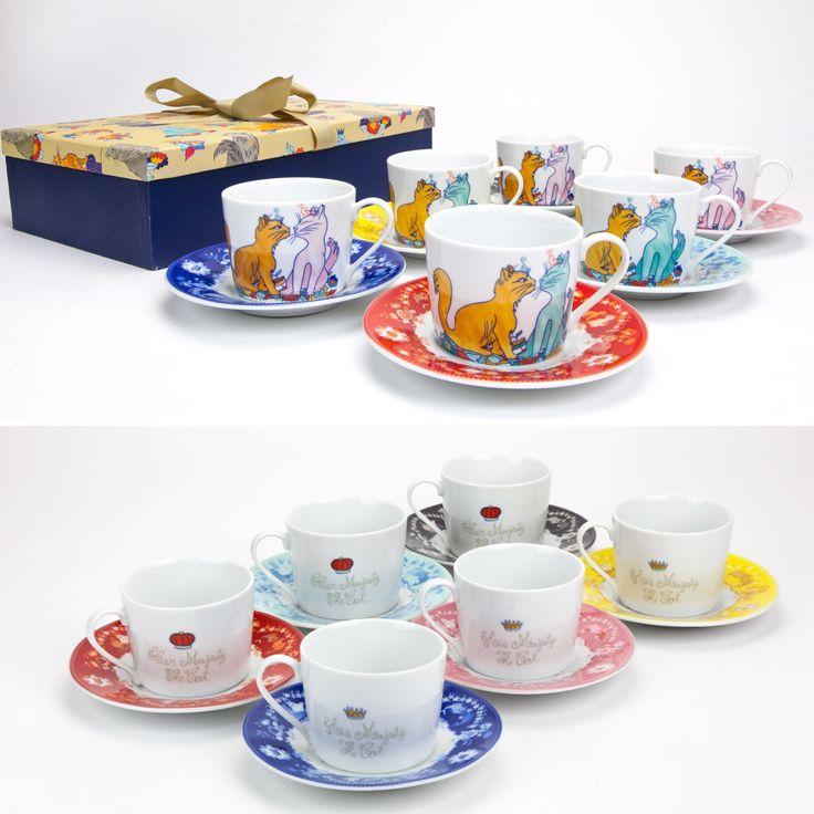 Conjunto de 6 Chávenas de Chá Her Majesty The Cat | A Loja do Gato Preto | #alojadogatopreto | #shoponline | referência 130666714