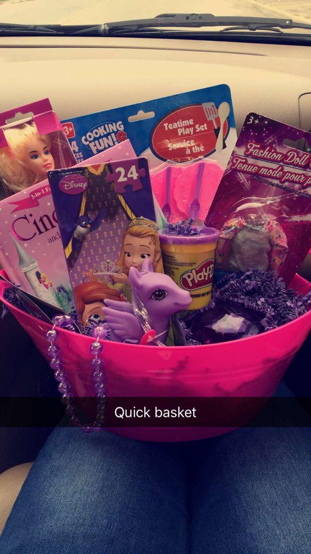 Dollar tree girly gift basket! 4 yr old.