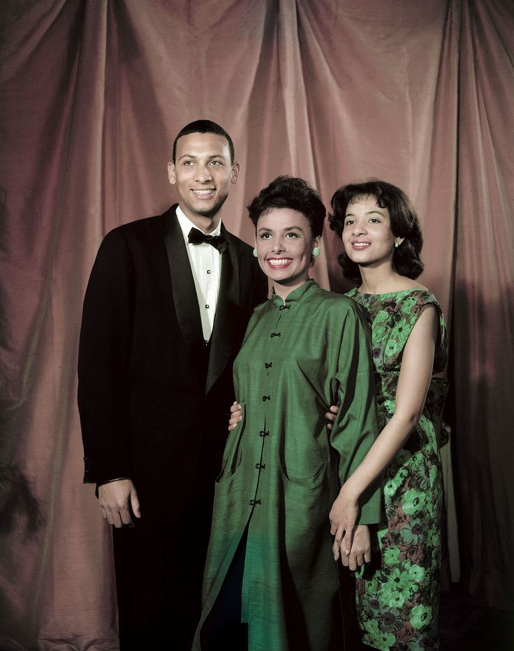 Lena Horne with her children Terry and Gail Jones ...