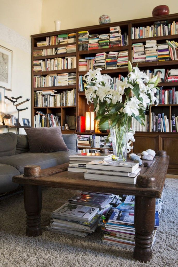 Living room  Library  Interior design