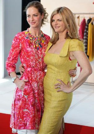 Trinny Woodall and Susannah Constantine. The dress on the right is a style that works well for me, though not this color.