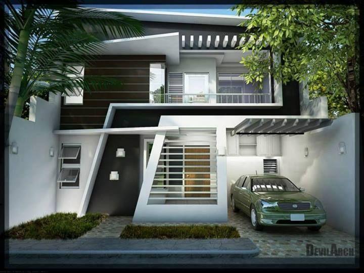 #Architecture - desain rumah keren ^__^ & 37 best Facade_Exterior images on Pinterest | Modern homes Modern ...