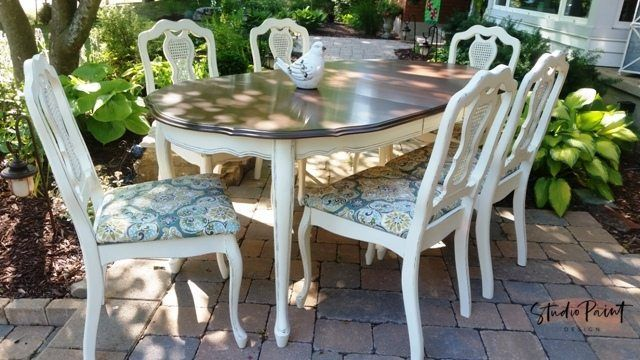 fancy french provincial dining set