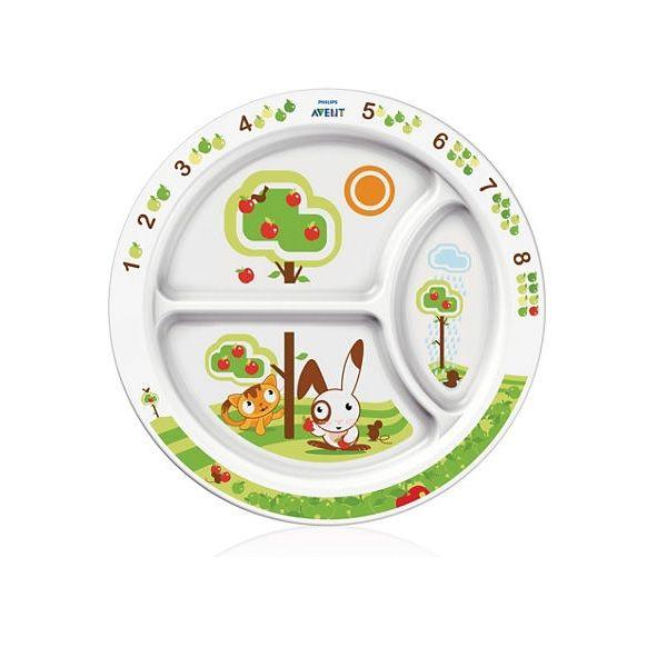 AVENT Детская порционная тарелка с разделителями (12м+)