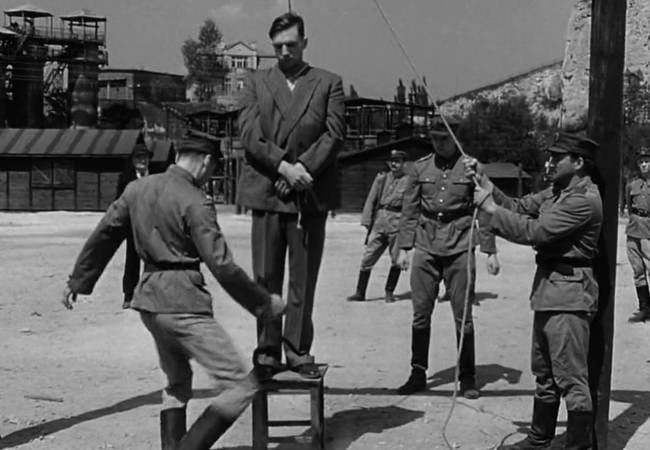 The execution of Amon Goeth.