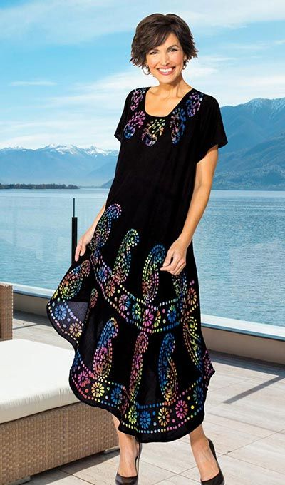 Rainbow Etching Swing Dress - pack this practical, fun dress for your next trip!