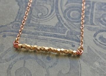 Little Gold Rough Cut Necklace