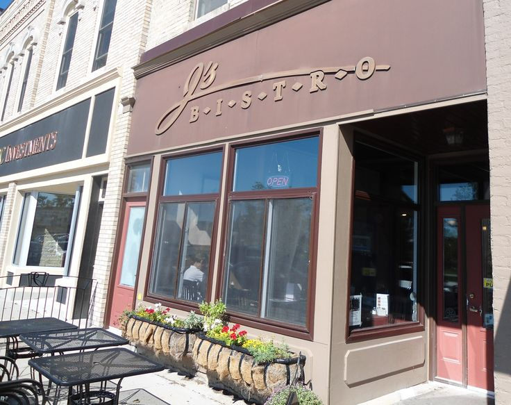 Outside of The Bistro in downtown Goderich, Ontario