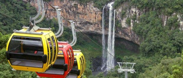 Conheça opções de atrações para ver a Cascata do Caracol, na Serra Gaúcha