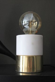 Naked Marble and Brass Table Lamp