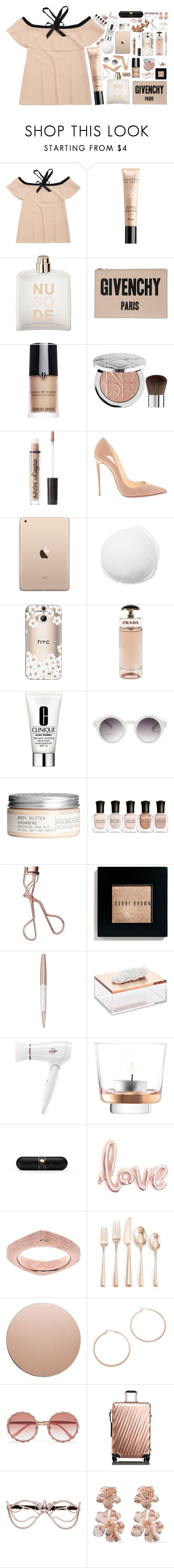 """""""NU so DE"""" by bbymayaine ❤ liked on Polyvore featuring Guerlain, COSTUME NATIONAL, Givenchy, Giorgio Armani, Sephora Collection, Charlotte Russe, Christian Louboutin, Casetify, Prada and Clinique"""
