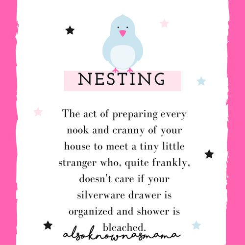 Nesting | Pregnancy and Motherhood Quotes