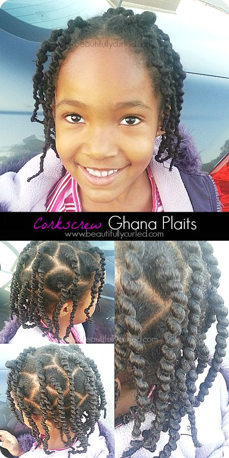 Beautifully Curled: Corkscrew Ghana Plaits Hairstyle via African Threading Technique