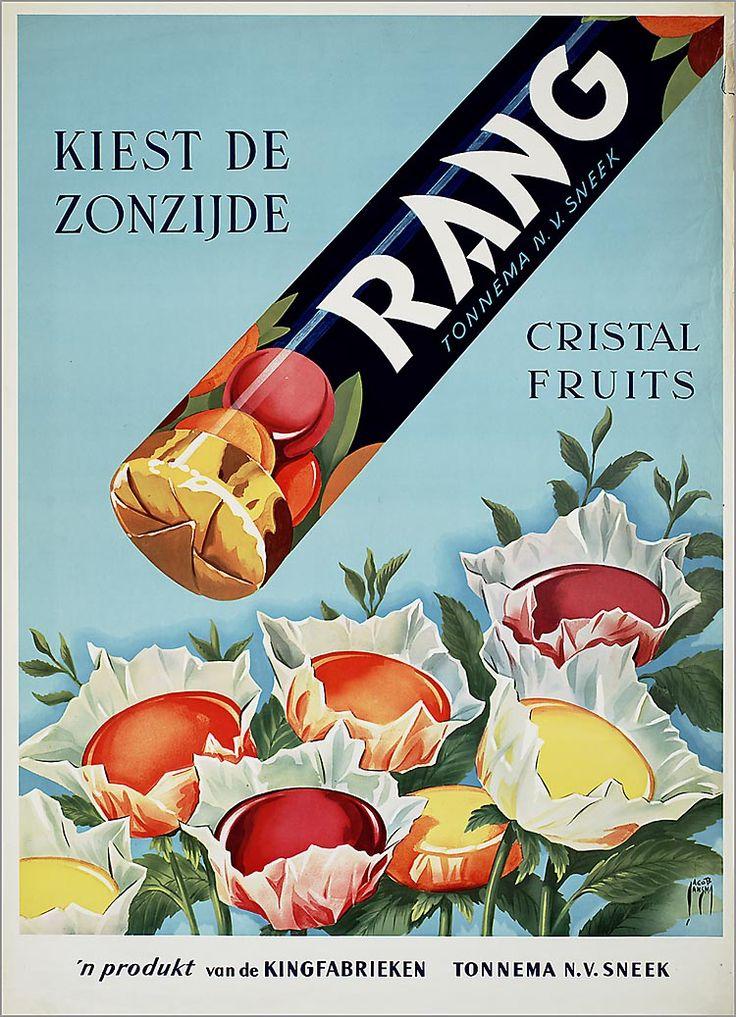Kies de zonzijde. Rang Cristal fruits. 'n produkt van deKingfabrieken Tonnema n.v. Sneek.