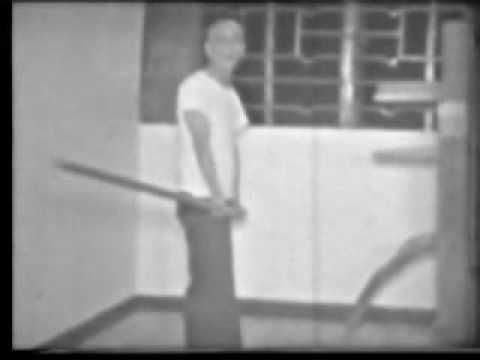Wing Chun Grandmaster Yip Man performing part of the Lonh Pole form of Wing Chun Kung Fu system | Rhodes Wing Chun Kung Fu - Visit us: http://rhodeswingchunkungfu.weebly.com/