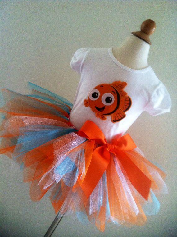Cute Nemo/birthday number tutu and onesie/shirt Free personalize. **Allies 1****
