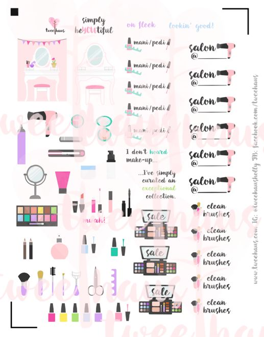 The Perfect Printable for Beauty Addicts