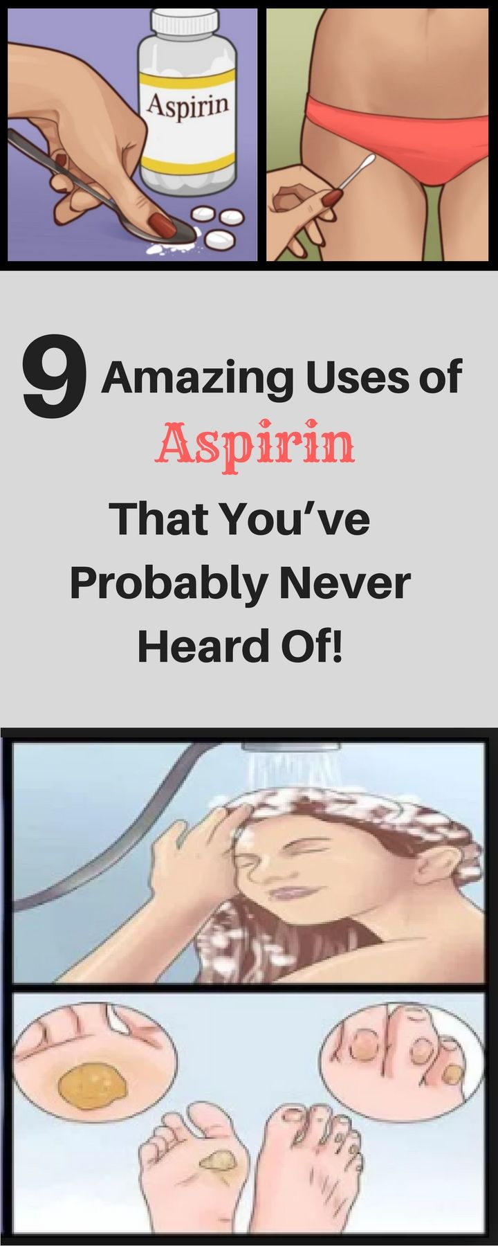 9 Amazing Uses Of Aspirin That You've Probably Never Heard Of!