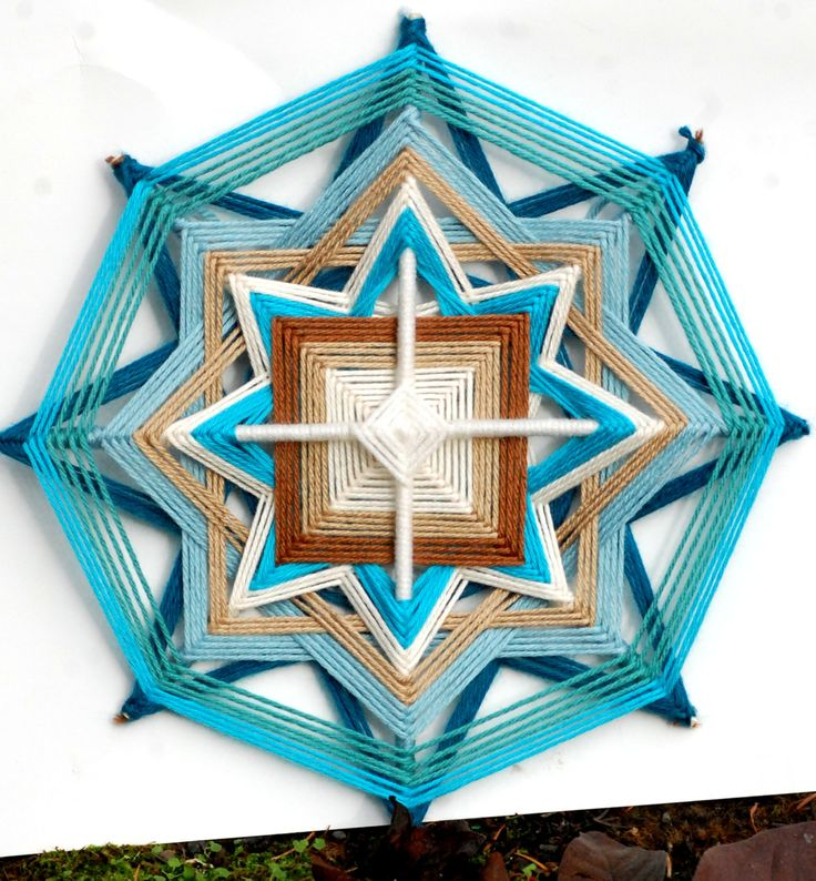 Northern Star 12 inch yarn mandala / god's eye / ojo de