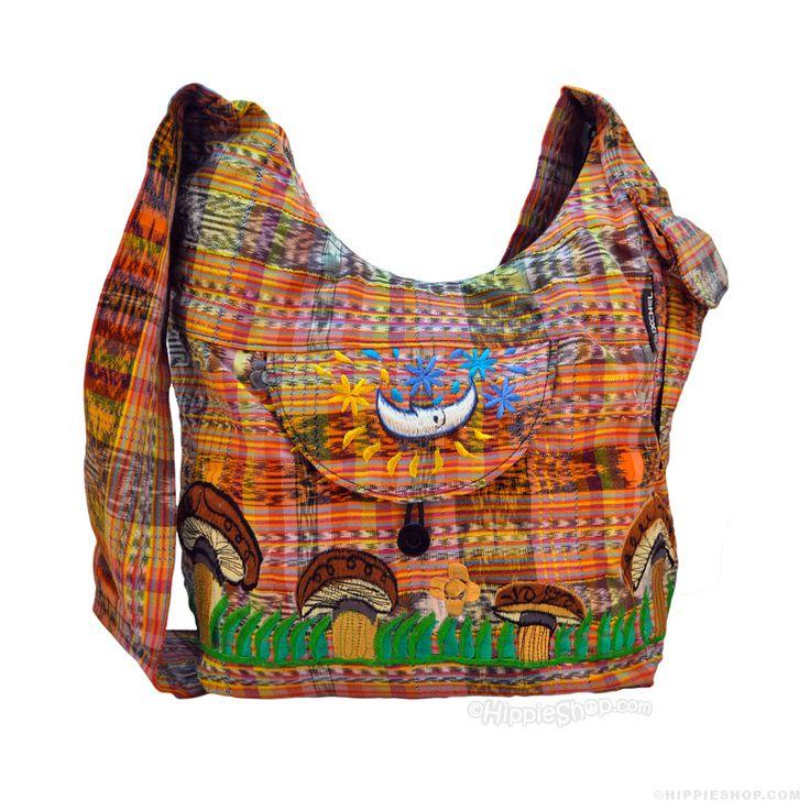 Embroidered Shroom Shoulder Bag on Sale for $34.99 at The Hippie Shop