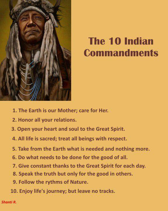 10 Indian commandments.
