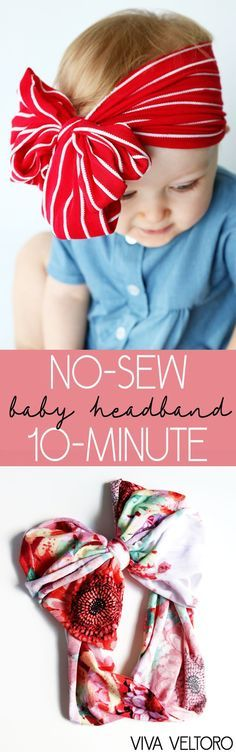 NO sewing necessary! This DIY baby headband tutorial will show you how to make adorable knit headbands!
