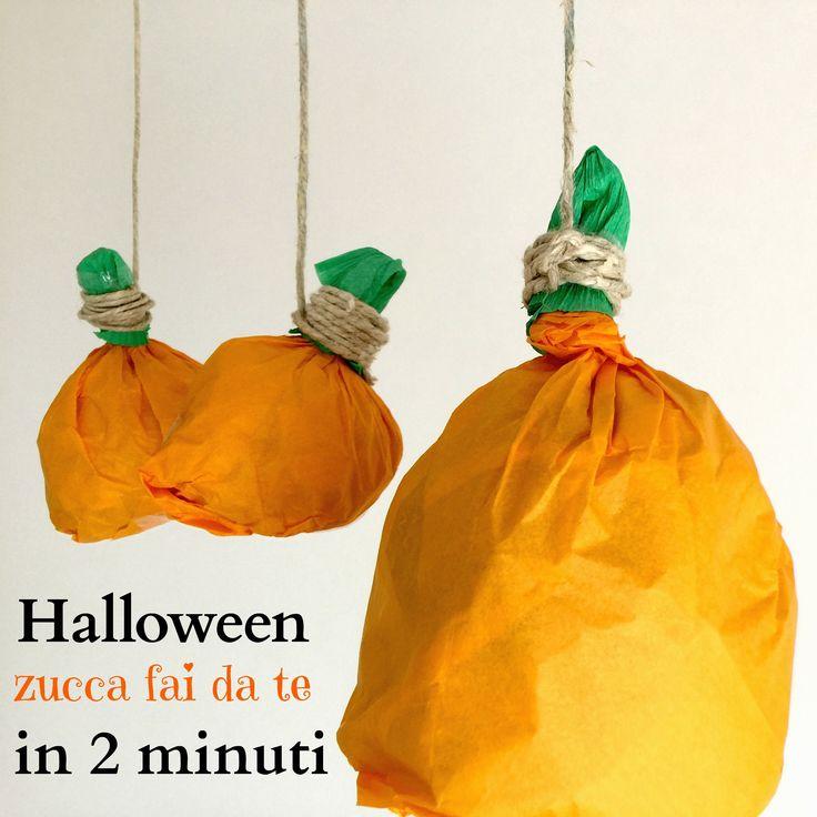 Halloween: zucca fai da te in 2 minuti