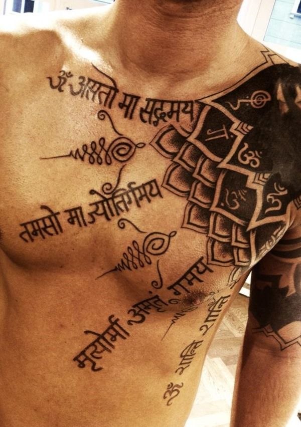 Amazing Mantra Tattoo For Men #652 | Photo Gallery - Tattoos Gallery