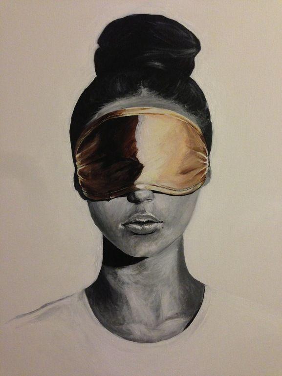 Saatchi Online Artist: Iva Mara; Acrylic, Painting See No Evil