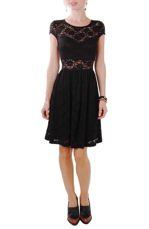 Lace Panel Dress  #littleblackdress  www.humblechic.com