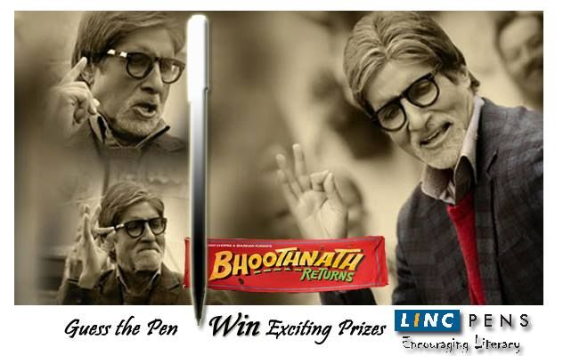 Watch Bhoothnath fight against #Corruption & evils of the society in the movie #BHOOTHNATHRETURNS  Identify the name of the Linc Pen used by Amitabh Bachchan in the Movie & win exciting Gift Hampers from #LincPens  Rush to your nearest theater NOW!!