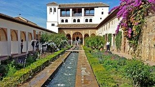 Alhambra, Granada, Generalife, Jardín
